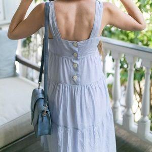 Madewell dress sz 6 striped back buttons